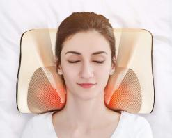 Infrared Heating Neck and Shoulder Massage Pillow Health & Beauty Health Care Massage & Relaxation