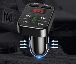 Bluetooth 5.0 FM Transmitter and Car Phone Charger Cellphones & Accessories